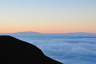 Photo: Mauna Kea and Mauna Loa (on Big Island) visible from the summit of Haleakala.