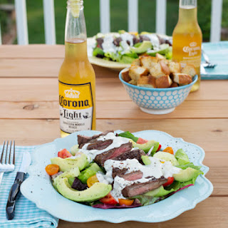 Grilled Steak Salad w/Creamy Blue Cheese Dressing