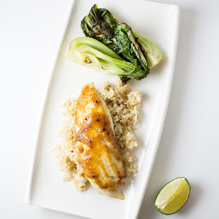 Miso-Glazed Tilapia with Roasted Bok Choy