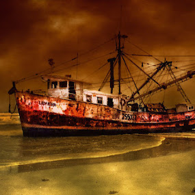 Shrimper by Karen Tawater - Transportation Boats