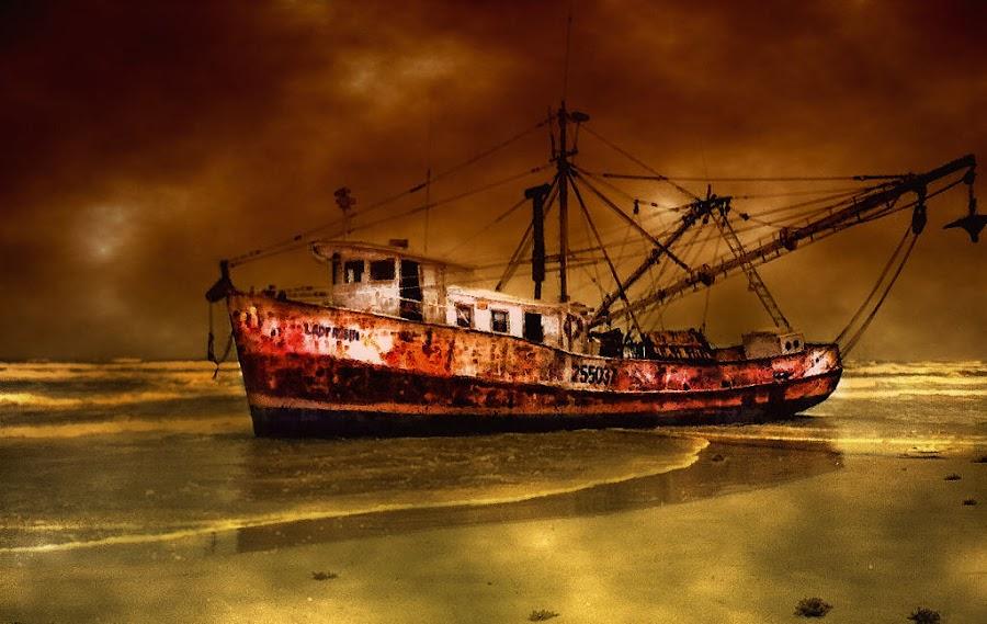 Shrimper by Karen Tawater - Transportation Boats