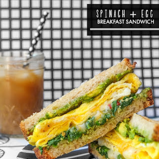 Spinach Egg Breakfast Sandwich