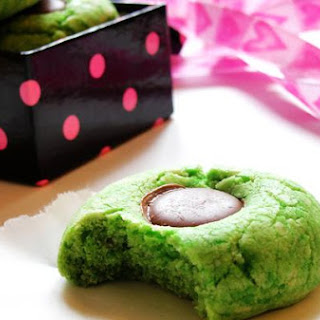Pandan Thumbprint Biscuits