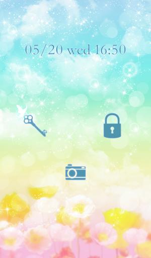 無料个人化Appのおしゃれなきせかえ壁紙★七色の空のお花畑|記事Game