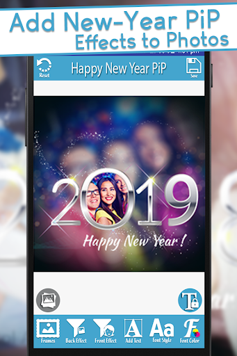 Happy New Year 2019 - PIPPhotoFrames 1.0 screenshots 1