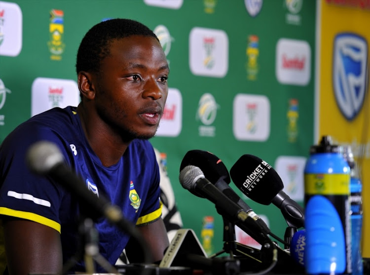 Kagiso Rabada of South Africa at the post press conference after day 4 of the 2nd Sunfoil Test match between South Africa and Australia at St Georges Park on March 12, 2018 in Port Elizabeth.