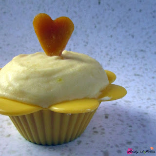Mango Cupcakes with Fresh Mango Buttercream