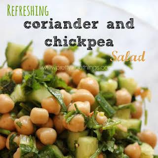 Refreshing Coriander Chickpea Salad.