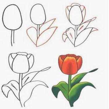 Cara Menggambar Bunga Dengan Hexadroid Poster