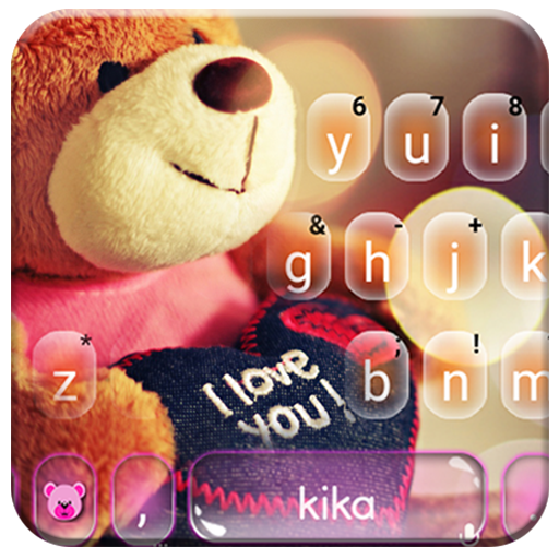Lovely Brown Teddy Keyboard Theme Icon