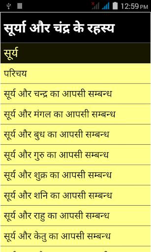 Surya or chandra rahseya