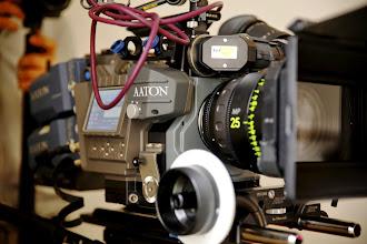 Photo: L'Aaton Penelope Delta, enregistrement en RAW DNG 16bit sur Deltapack 1To (disque SSD)