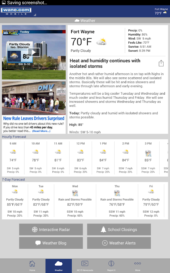 WANE 15 - News and Weather- screenshot
