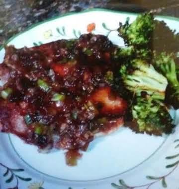Pork Loin Chops with a Plum Glaze