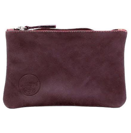Mini väska Aubergine i skinn med kreditkortsficka