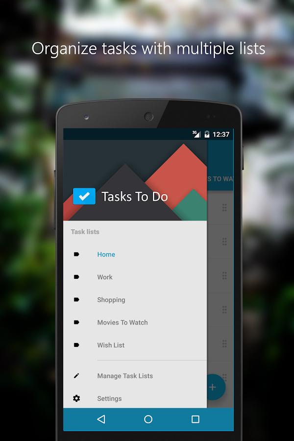 Tasks To Do : To-Do List- screenshot