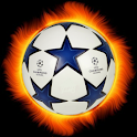 Football penalty. Shots on goal. icon