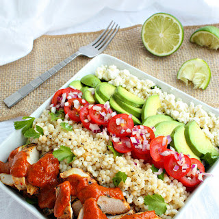Grilled Chicken Bowls with Cilantro Lime Couscous