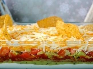 Homemade Salsa Taco Dip Recipe