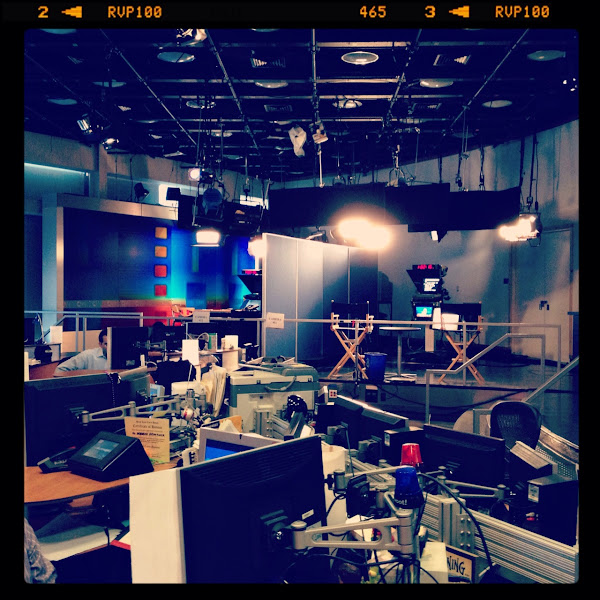 Photo: Behind the scenes at CNNMoney...