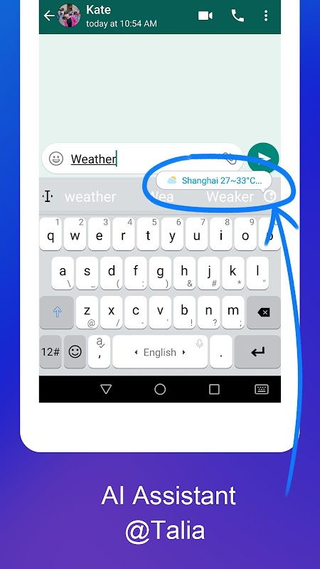 TouchPal Keyboard Pro- type with AI assistant screenshots
