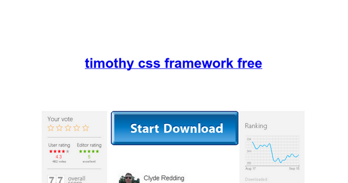 Timothy css framework free google docs malvernweather Image collections