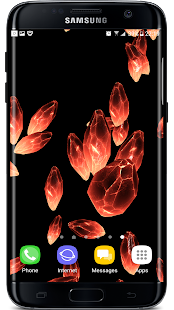 Crystals Particles 3D Live Wallpaper Screenshot