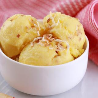Pineapple and Coconut Frozen Yogurt.