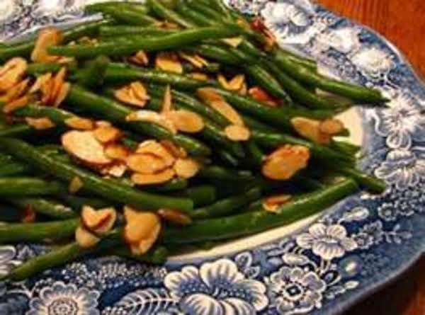 Green Beans A L'orange With Almonds And Wild Rice