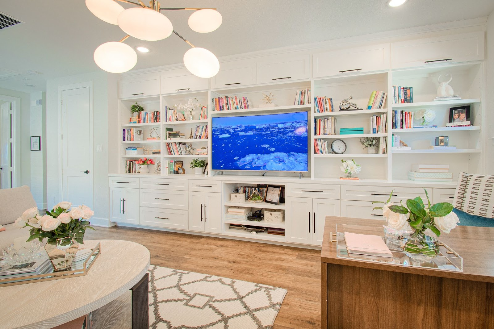 design by keti custom designed built-in shelves drawers cabinets tv home office