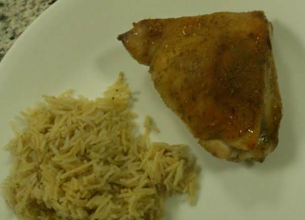 I Usually Serve This Dish With A Side Of Something Like Rice Pilaf.  I Love How The Skin Turns Out Nice And Brown!
