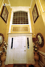 Photo: (After) Foyer door and window
