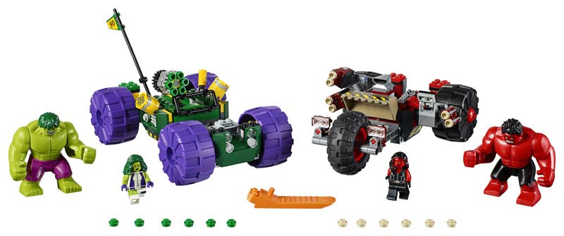 Contenido de Lego® 76078 Hulk vs. Hulk Rojo