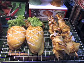 Photo: grilled cuttlefish and squid, Or Tor Kor