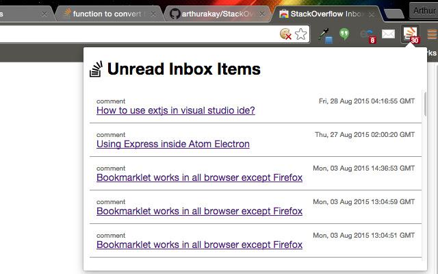 StackOverflow Inbox Notifications