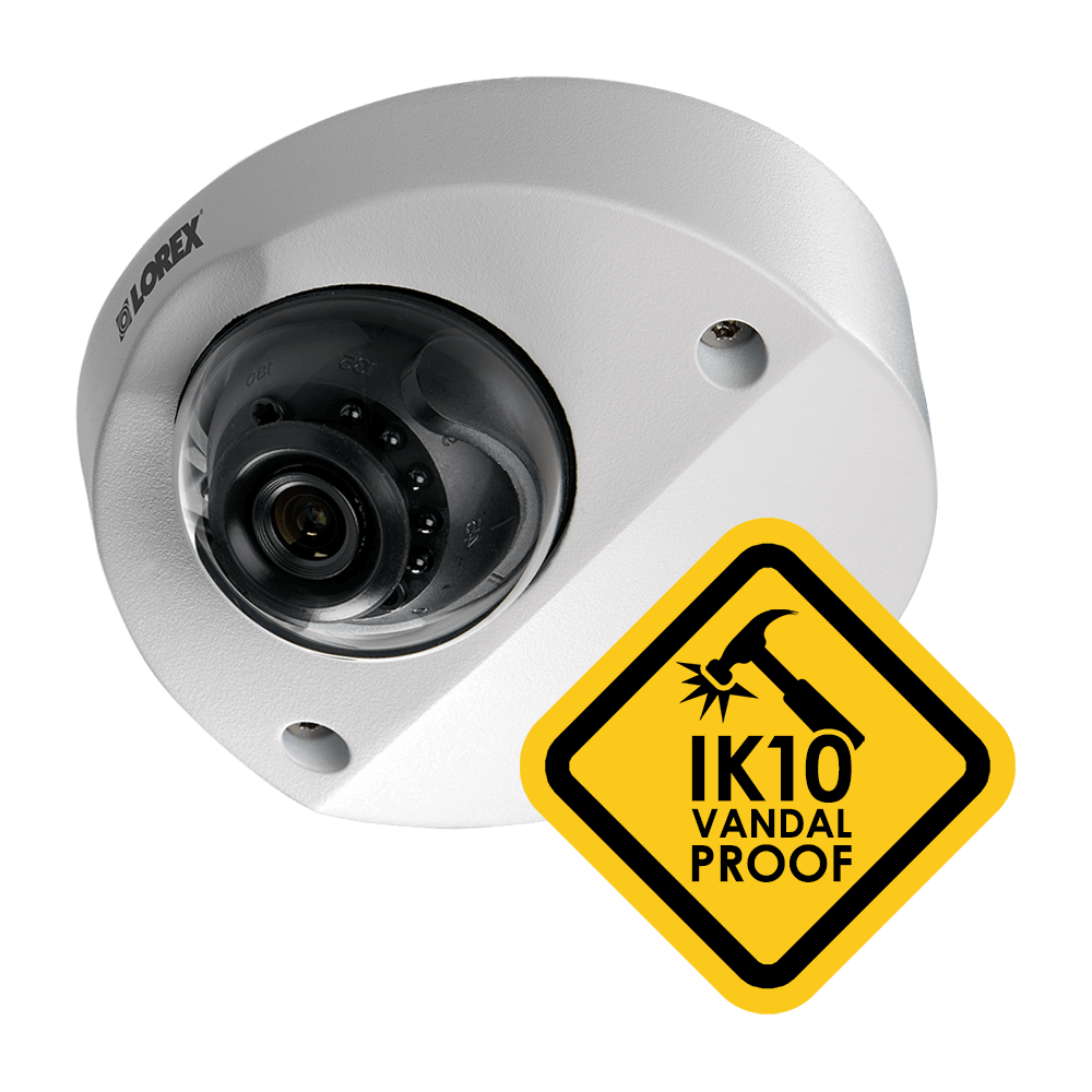 IK10 vandalproof security camera