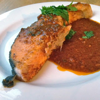 Ottolenghi's Salmon Steaks in Chraimeh Sauce