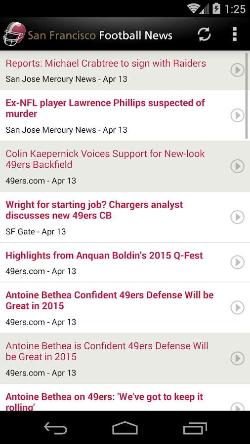 San Francisco Football News- screenshot