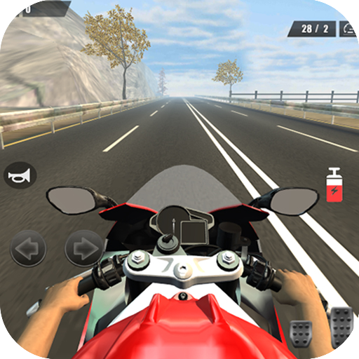 Traffic Moto 3D Icon