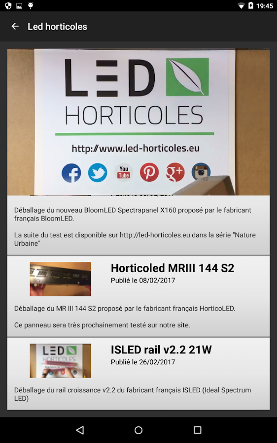 LED Horticoles- screenshot