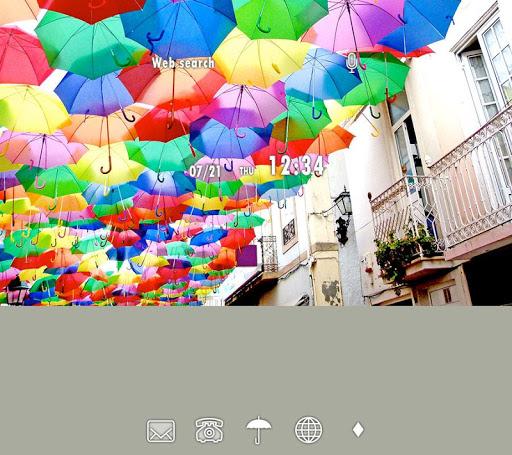 壁纸·图标 空中的雨伞河