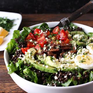 Vegetarian Cobb Salad Lentil Bowl