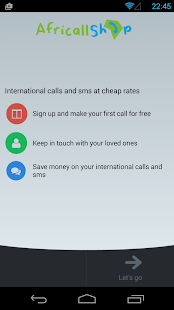 AfriCallShop - International Calls Screenshot