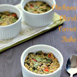Millet Chickpea Chard Carrot Breakfast Bake..