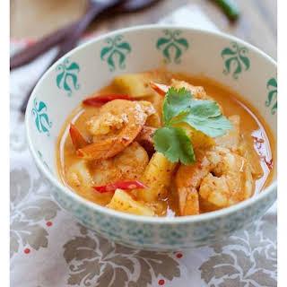Thai Shrimp and Pineapple Curry.
