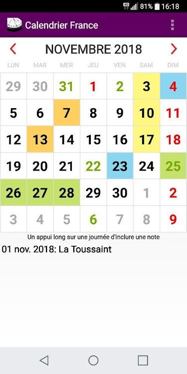 Français Calendrier 2021   Féries et Fêtes France – (Android Apps