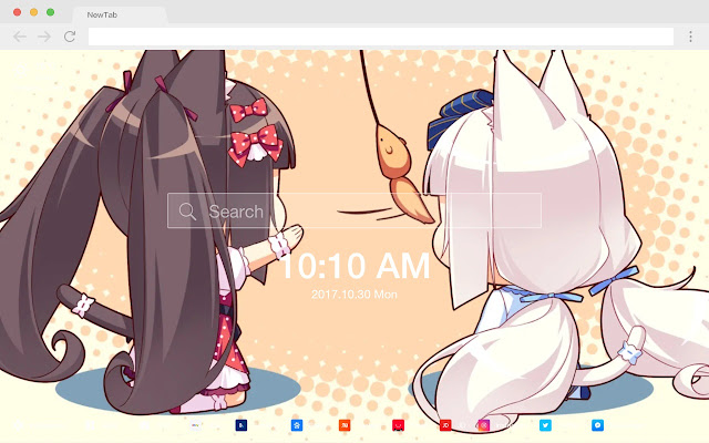 Chocola Popular HD Anime New Tabs Theme