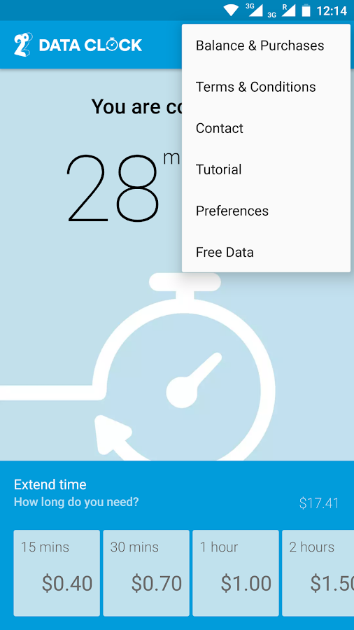 Data Clock- screenshot