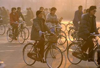 Photo: Beijing morning commute in red smog ©Joseph Kugielsky