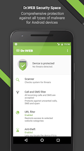 Dr.Web Security Space Life Screenshot